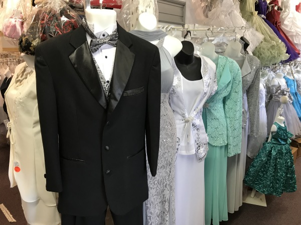 Wedding gowns and Tuxedos